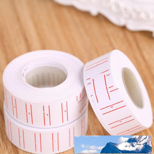top popular new 10 Rolls  Set Price Label Paper Tag Tagging Pricing For Gun White 500pcs roll 2021