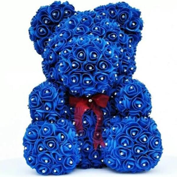 синий с бриллиантом