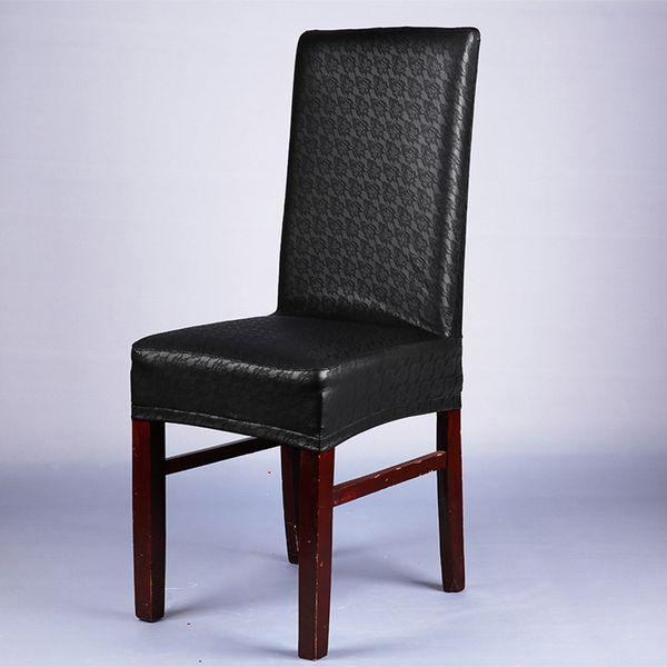 patrón de encaje negro cubierta de la silla de la PU