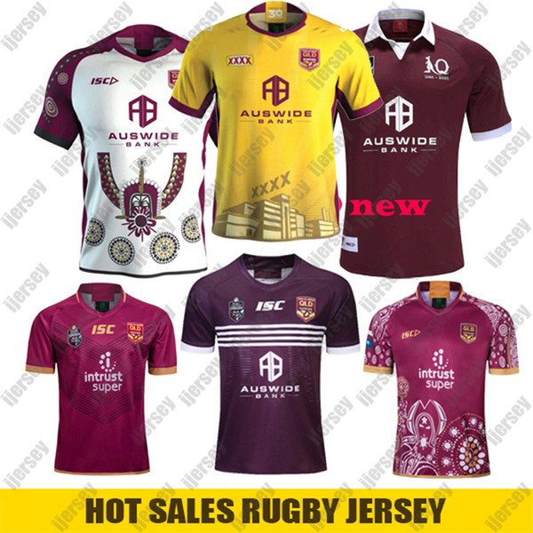 top popular New QLD MAROONS 2019 Home Training SLATER rugby Jerseys SMITH nrl Rugby League Jerseys 2020 Indigenous rugby shirt Australia Retro Jersey 2020