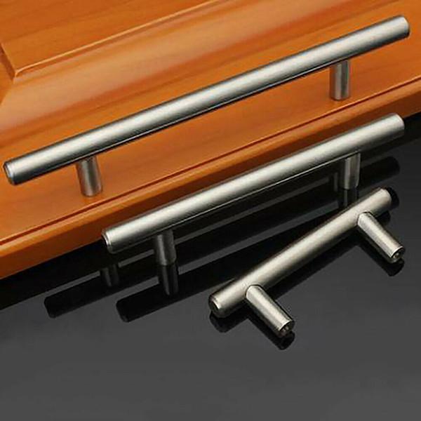 best selling T Type Cabinet Handles Stainless Steel Cupboard Door Drawer Pulls Wardrobe Shoe Kitchen Cabinets Kitchen Accessories GH300