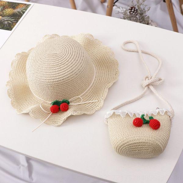 saco de cereja bege chapéu terno