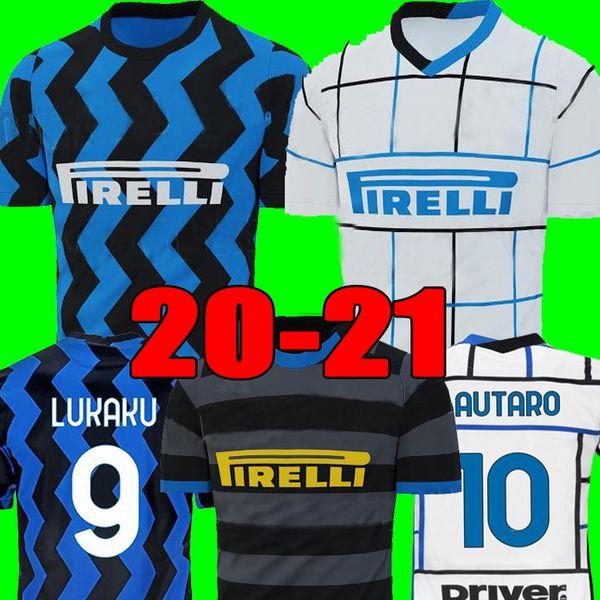 top popular ERIKSEN Inter LAUTARO SKRINIAR 2021 Milan Soccer Jerseys BARELLA LUKAKU 19 20 21 TOP Quality Football inter Football Shirt Uniform 2020