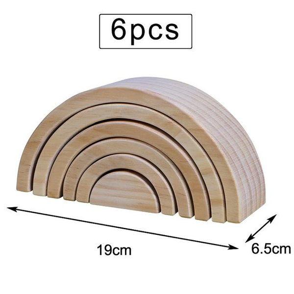 6PCS 19cm 나무