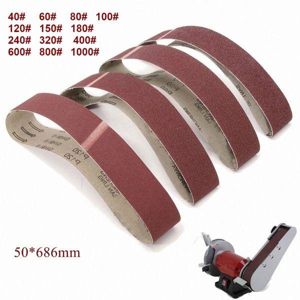 best selling 10Pack 686*50mm Sanding Belts 40-1000 Grit Aluminium Oxide Sander Sanding Belts Polishing Machine Abrasive Tools LAtR#