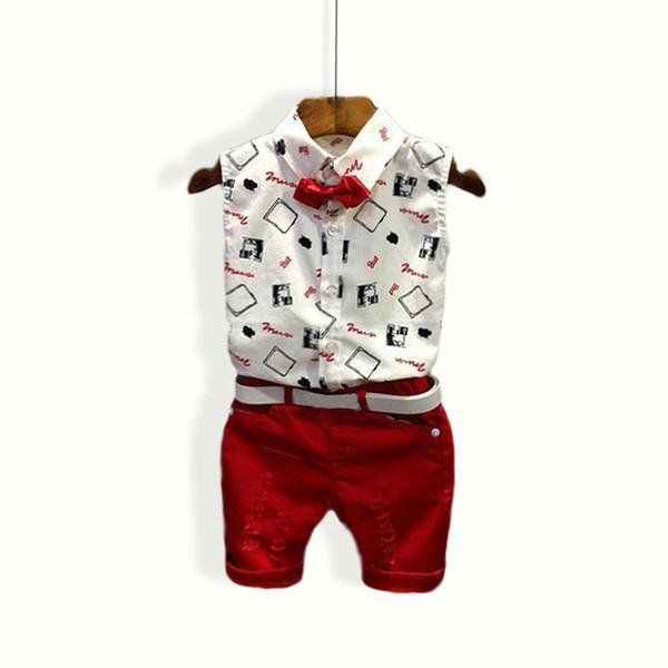 shirt shorts 2pcs F