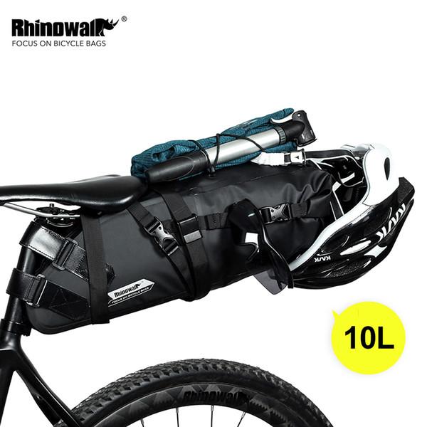 top popular Rhinowalk 10L Bike Waterproof Bicycle Saddle Bag Reflective Large Capacity Foldable Tail Rear Bag Cycling MTB Trunk Pannier MX200717 2021