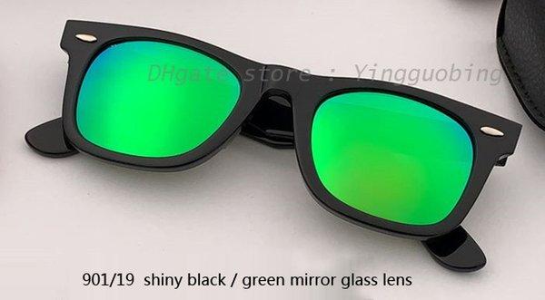 Lente a specchio nero / verde lucido 50mm901 / 69