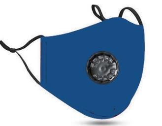 azul com válvula de respiração