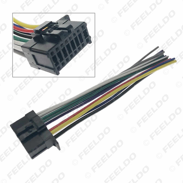 best selling Automotive universal 16-pin car harness adapter connector plug for new pioneer DVD CD radio stereo cable #6476