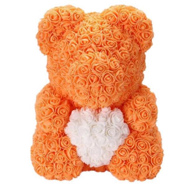 оранжевый с сердцем