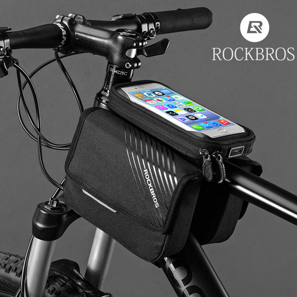 best selling ROCKBROS 7 Style Bike Bags Bicycle Front Tube Bag Touch Screen waterproof For 5.8 to 6.3 inch Phone MTB Road Cycling Accessories MX200717
