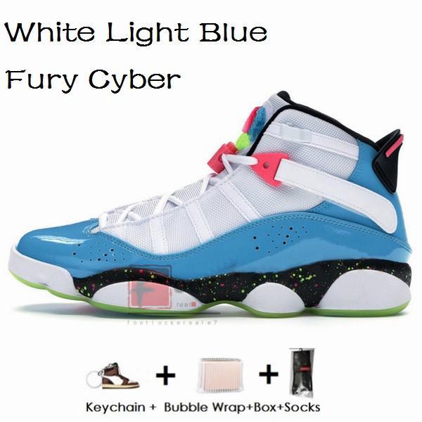 6s-Beyaz Açık Mavi Fury Siber