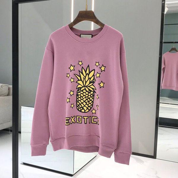 best selling high quality pineapple Designer Hoodie Sweatshirts Long Sleeve Shirts Hoodies Autumn Spring women luxury clothing Printed letter Sweater S-L