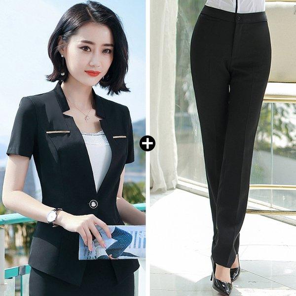 Pantalones de traje negro traje negro +
