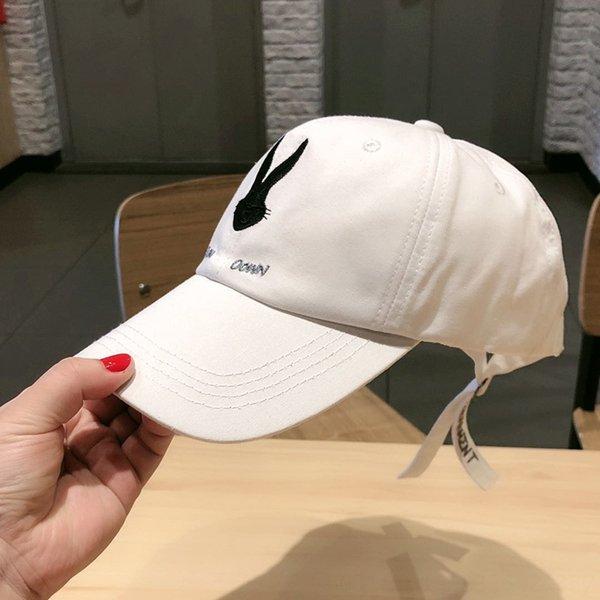 bunny baseball cap cotton White