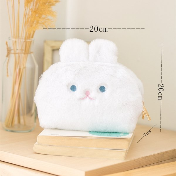 white cosmetic bag