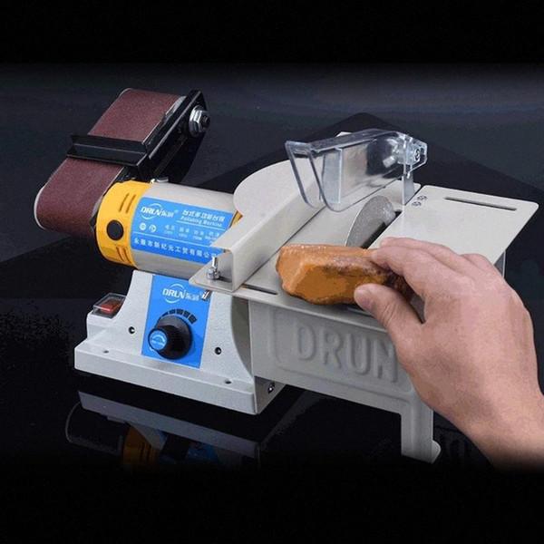 top popular 220V Belt Sander Machine Mill Woodworking Polishing Cutting Machine Can Polishing Stone Sander Power Tools More Standards gL9v# 2021