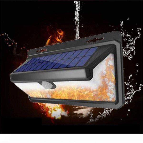 BRELONG Solar Flame Wall Light Outdoor Waterproof Garden Light Flame Light Suitable for Garden Garden Bionic Flame