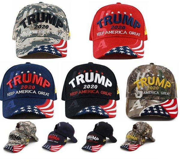 top popular Party Supplies Donald Trump 2020 Baseball Hats Keep Make America Great Embroidery Women Men Sports Cap Visor Trump Hat Party Hats LL5 2021