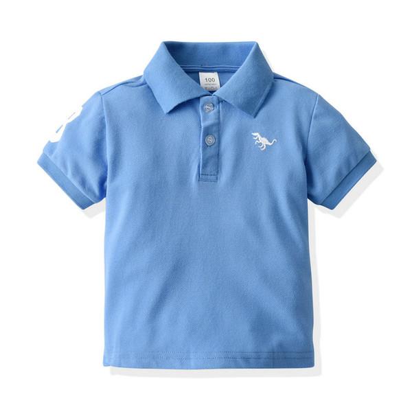 best selling Boy's T-shirt Short Sleeve Polo's Collar Summer Kids T-shirt Fashion Classic Children T-shirt 90 100 110 120 130