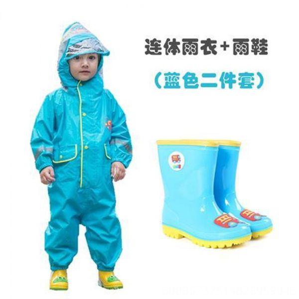 Blue Car une seule pièce + Bottes de pluie