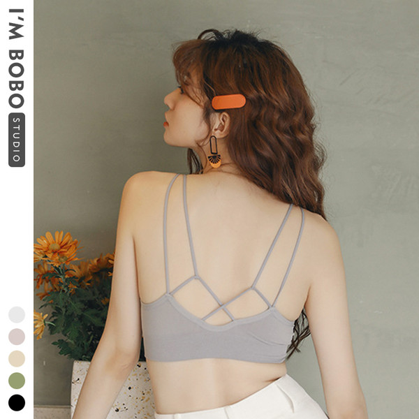 best selling IMBOBO 2020 New Women Tube Tops Lingerie Strapless Camisole Backless Bandeau Slim Sexy Solid Tanks Underwear Lady Wrap