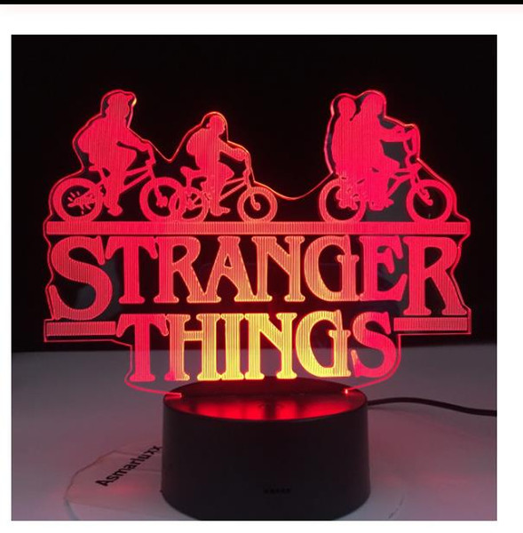 top popular Stranger Things American Web Television Series Led Night Light 7 Colors Changing Touch Sensor Bedroom Nightlight Table Lamp Gift 2021