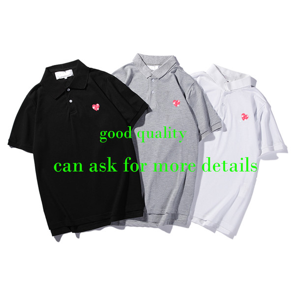 top popular Men polo Shirt Fashion Summer New T shirts Casual Tshirt Breathable Short Sleeve Tees Heart Print japan Top Tees 2020