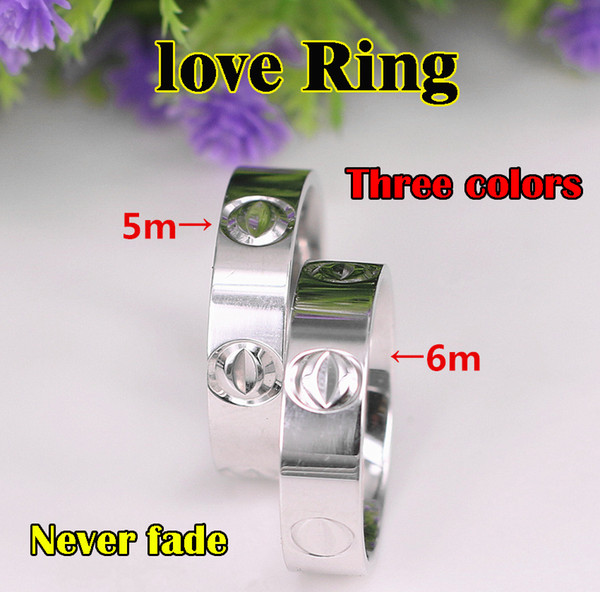 top popular Titanium Steel Wedding lovers Ring for women Zirconia Engagement Rings men jewelry Gifts Fashion Accessories 2021