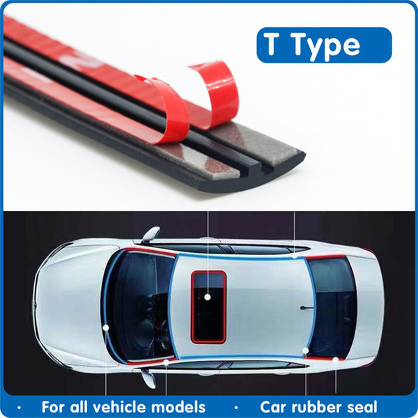 ar Wash & Maintenance Fillers, Adhesives & Sealants Car Door Seal Rubber Windshield Sealant Protector Seal Strip Auto Roof Sound ...