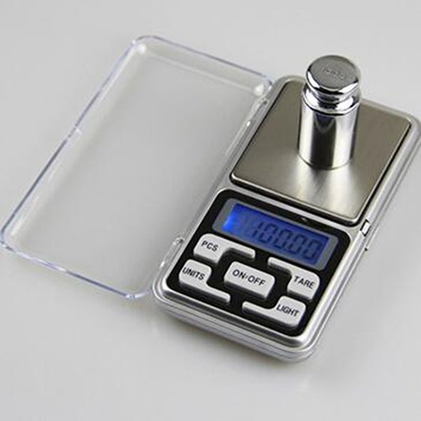 top popular Digital Pocket Scales Digital Jewelry Scale Gold Silver Coin Grain Gram Pocket Size Herb Mini Electronic backlight Scale 12pcs IIA77 2020