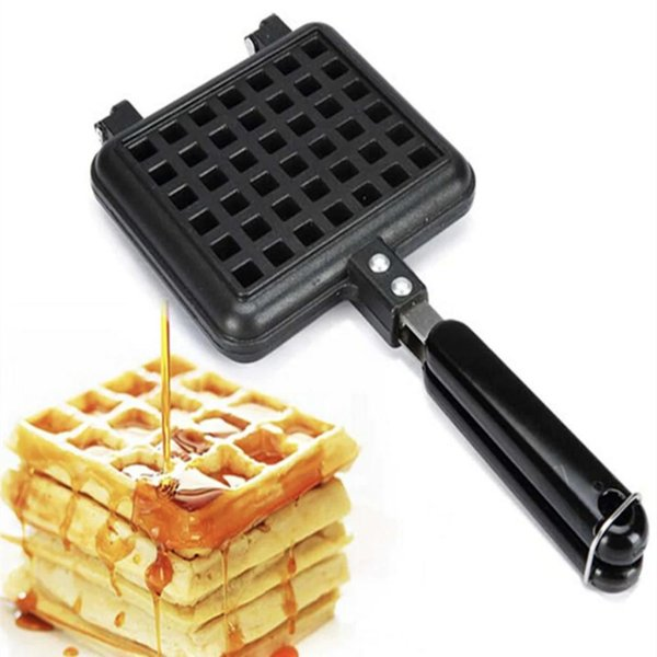 top popular Nonstick Cake Mould Iron, DIY Cake Maker with Handle Baking Mould Tool Stovetop Aluminum Base 2021