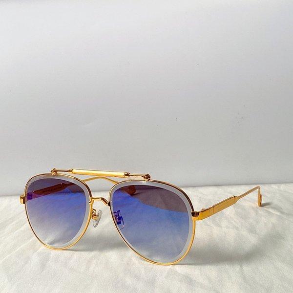 cornice d'oro lente blu