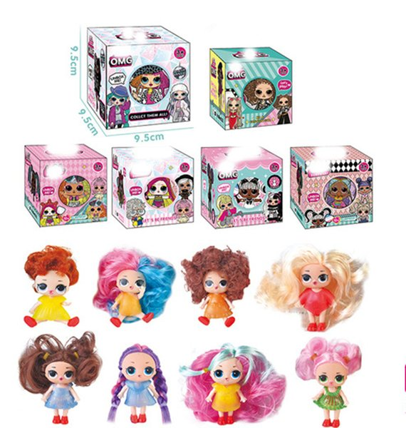 best selling new OMG ball Long hair Series Fashion Doll Action Figure Toy Kids Unpacking Dolls Girls Funny Dress Up Gift Christmas 10cm zx985