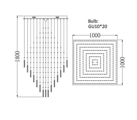100 * 100cm