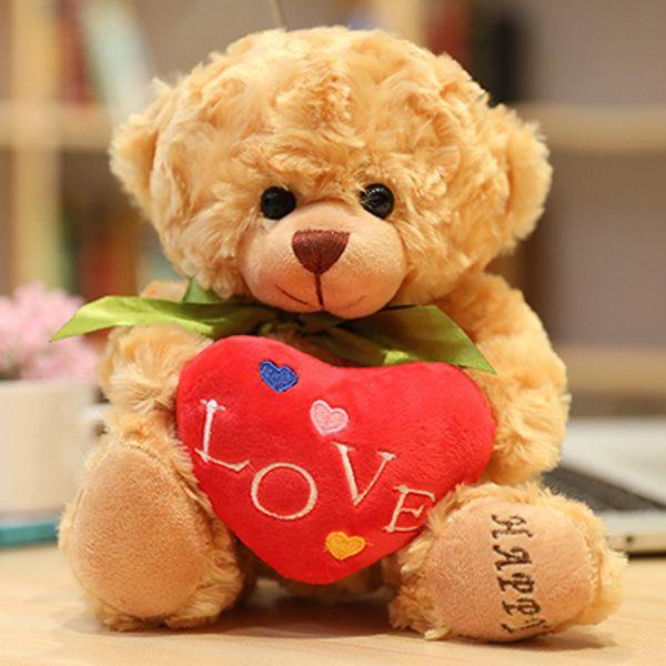 Love bear with green ribbon