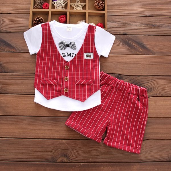 bao short-sleeved vest wine red