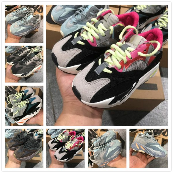 best selling Blush Desert Rat Infant 700 kids Running shoes Utility Black Baby boy girl Toddler Youth trainers Children sneakers without box