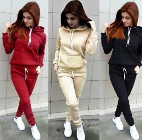 top popular 0Brand Full Sleeve Autumn Winter Tracksuit Embroidery Letter Long Sleeved Jogger Set Hoodie Pants Two-piece Outfit Sweatsuit 2020