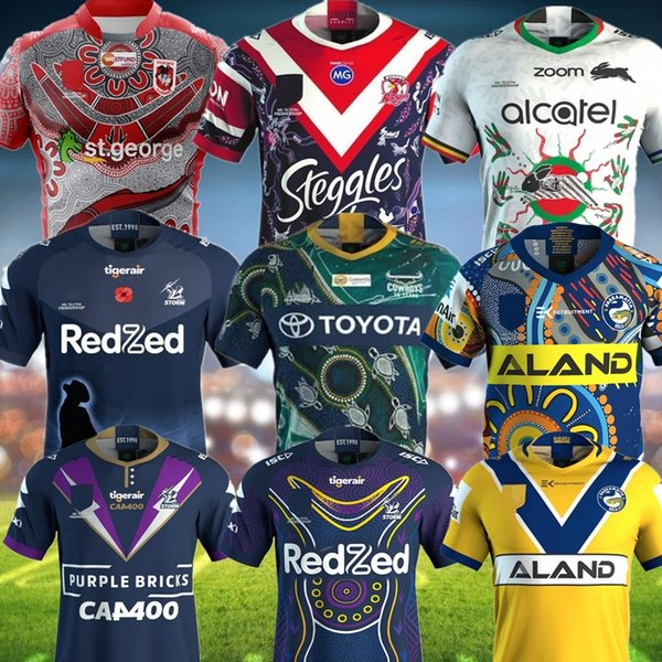 top popular 2020 NRL Rugby League jerseys SYDNEY ROOSTERS ANZAC JERSEY PREMIERS Indigenous Melbourne St George Sharks Eel tiger rugby Jerseys 2020