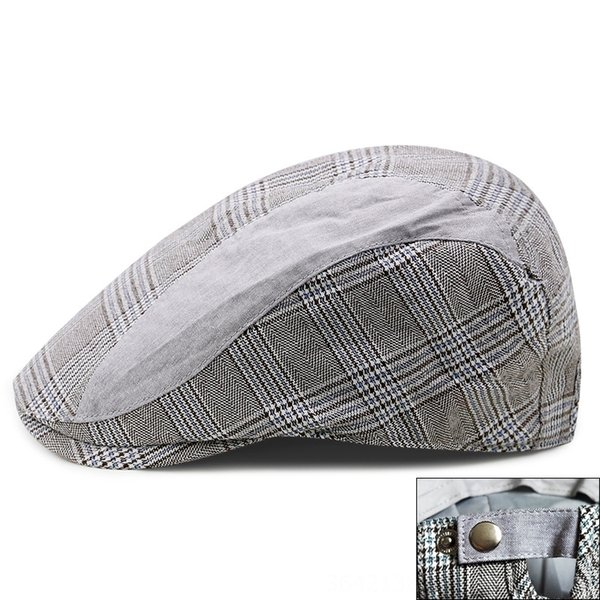 plaid-light gray-Adjustable for 56-59cm