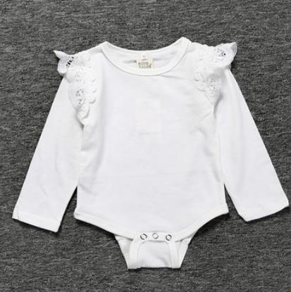 # 2 Lace Ruffle bambino tute