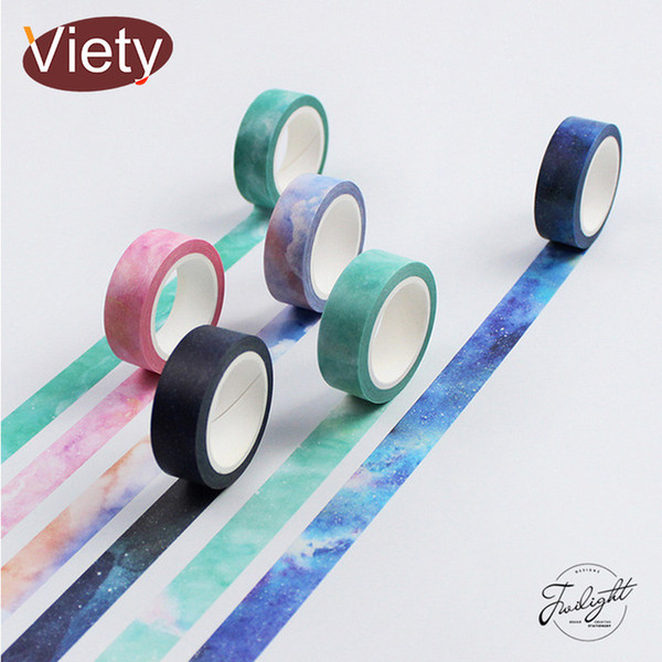 Office Adhesive 1.5cm*8m Dreamlike Sky washi DIY decoration scrapbooking planner masking adhesive tape label sticker stationery