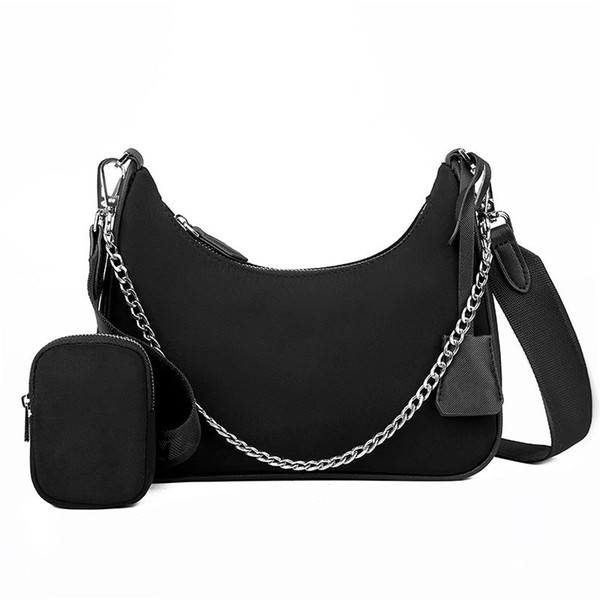 top popular 2020 Designer Luxury Shoulder Bags 3A high quality nylon Handbags Bestselling wallet women bags Crossbody bag Hobo purses with box 2020