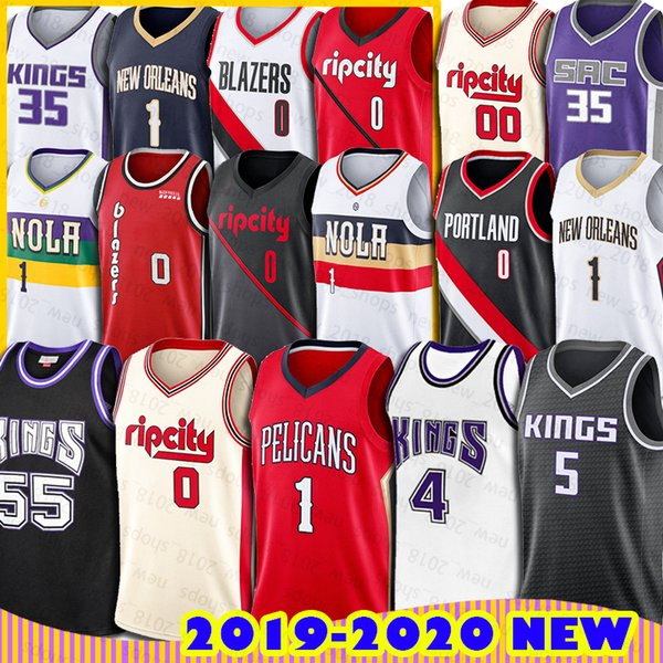 best selling New Zion Orleans Williamson Jersey Pelicans Portland Damian Basketball Trail Lillard Carmelo Jason Anthony Blazers Sacramento Williams King