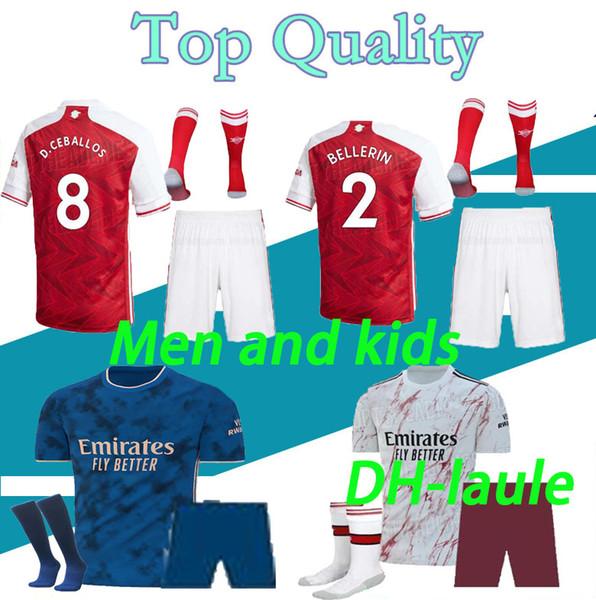 best selling TIERNEY MEN and kids 20 21 soccer jersey CEBALLOS HENRY football shirt 2020 2021 DAVID LUIZ maillot de foot Adult kit sets with socks