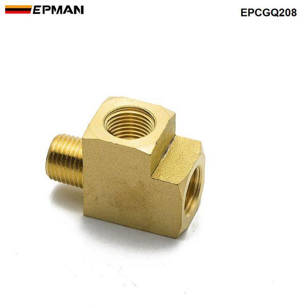"best selling EPMAN Brass Pipe Fitting Barstock Street Tee T 3 Way NPT 1 8""x1 8"" Fx1 8"" Male Adapter EPCGQ208"