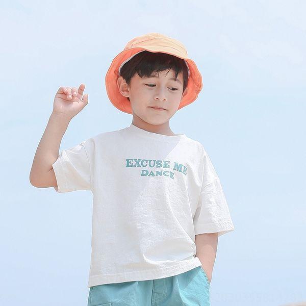 white T-shirt lake blue letter (A T)