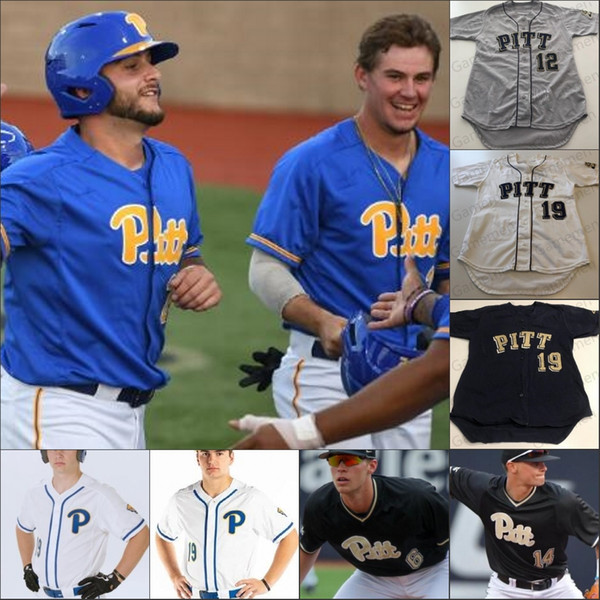 best selling PITT Pittsburgh Panthers Baseball stitched jerseys Any Number Name Nico Popa 3 Sky Duff 5 Connor Perry 18 Dan Hammer 34 TJ Zeuch